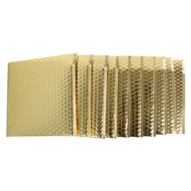 Bubbeltjes envelop - goud - 25x25cm per stuk