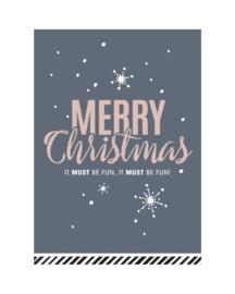 Kerstkaart - Merry Christmas