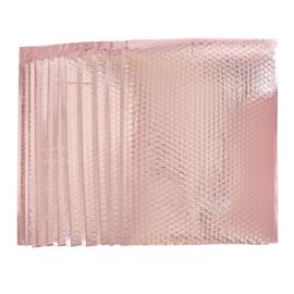 Bubbeltjes envelop - rosé - 40x34cm per stuk