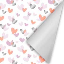 Duo Hearts neon/roze/zilver