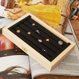 Display 20 Ringen - hout - PRE ORDER