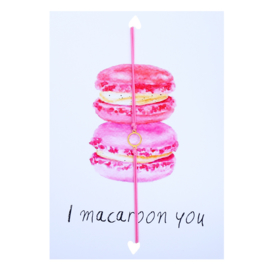 Wenskaart Macarons