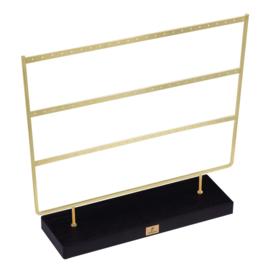 Display oorbellen minimal - goud / zwart - PRE ORDER