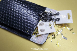 Bubbeltjes envelop - zwart - 25x15cm per stuk