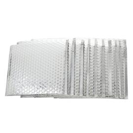 Bubbeltjes envelop - zilver - 25x25cm per stuk