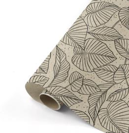 Lovely Leaves grass paper/zwart
