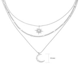 Chained Star & Moon - zilver