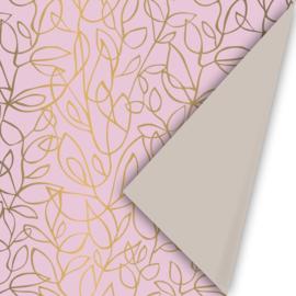 Fine Fleurs roze/goud/zand