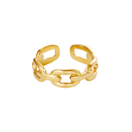 Ring Oval Chain - goud