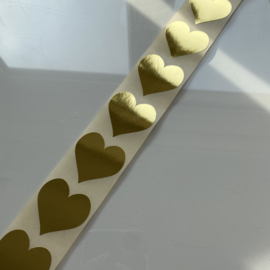 Stickers Golden Heart - 10 stuks