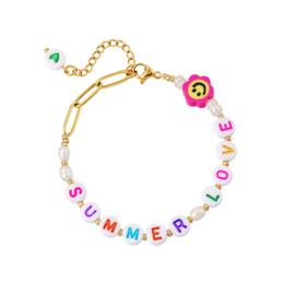 Edelstalen armband Summer Love