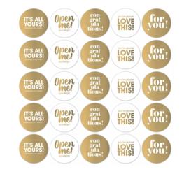 Text Mix goldfoil/white - 10 stuks