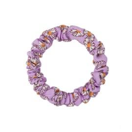Scrunchie Lovely klein - flower paars