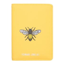 Paspoort Case Bee Free - geel