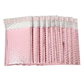 Bubbeltjes envelop - rosé - 25x15cm per stuk