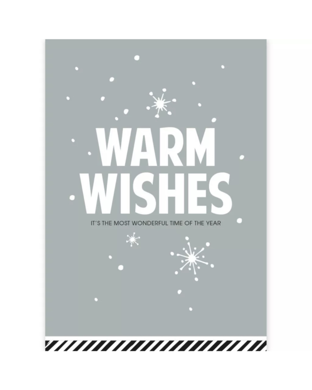 Kerstkaart - Warm wishes
