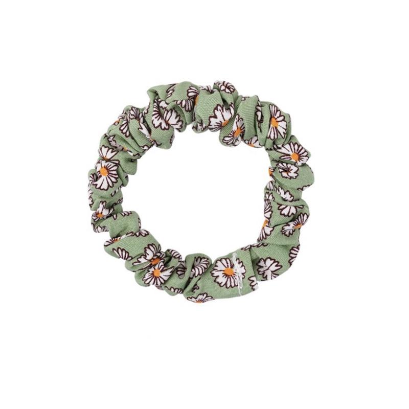 Scrunchie Lovely klein - flower groen
