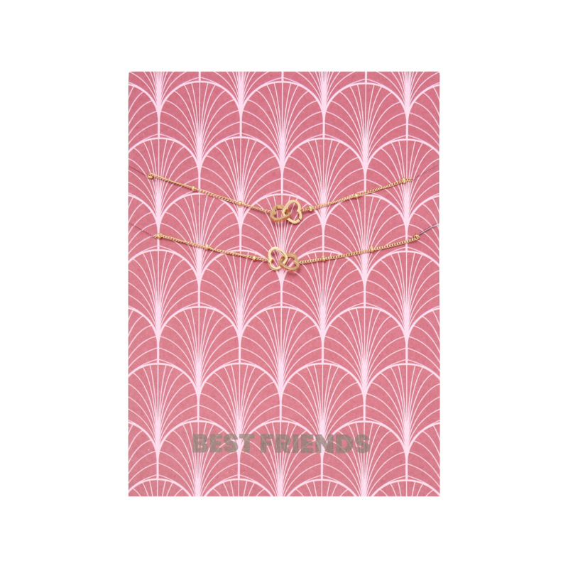 Card Best Friends - goud
