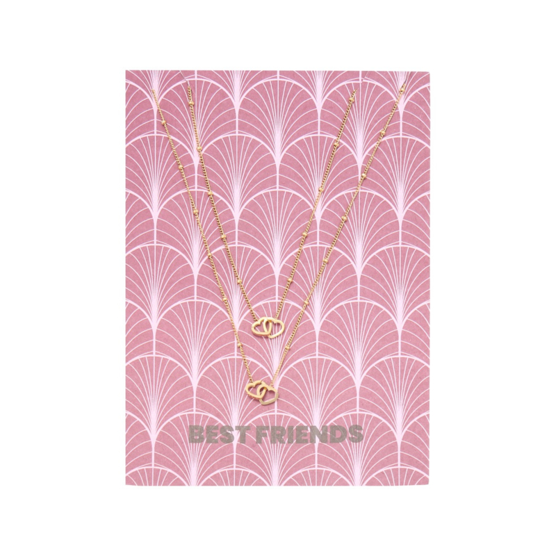 Card Best Friends - goud