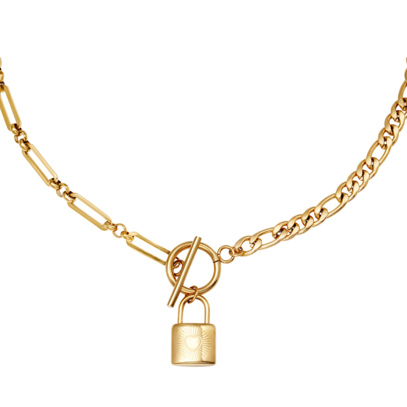 Chain & Lock - goud