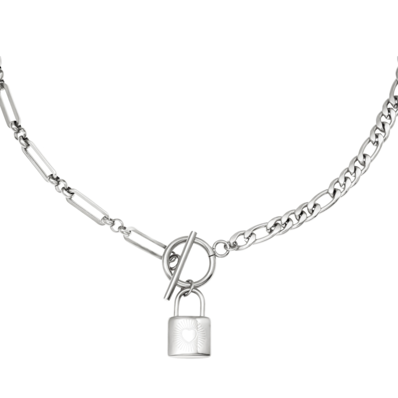 Chain & Lock - zilver