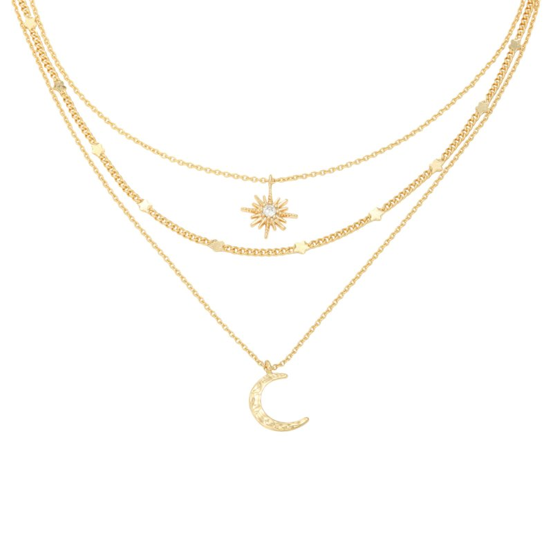 Chained Star & Moon - goud