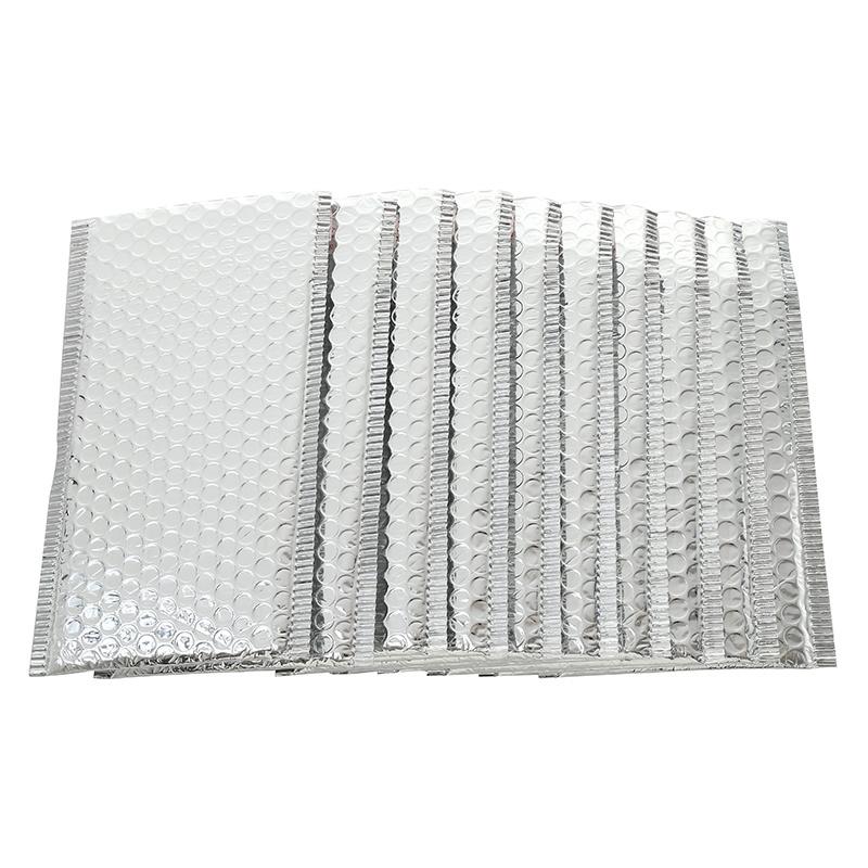 Bubbeltjes envelop - zilver - 25x15cm per stuk