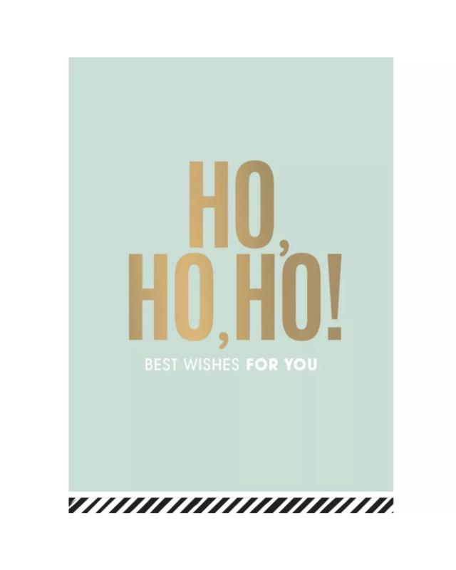 Kerstkaart - Ho, ho, ho