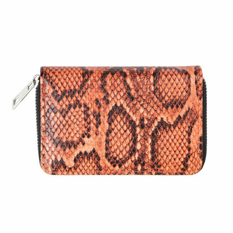 Wallet Sassy Snake - oranje