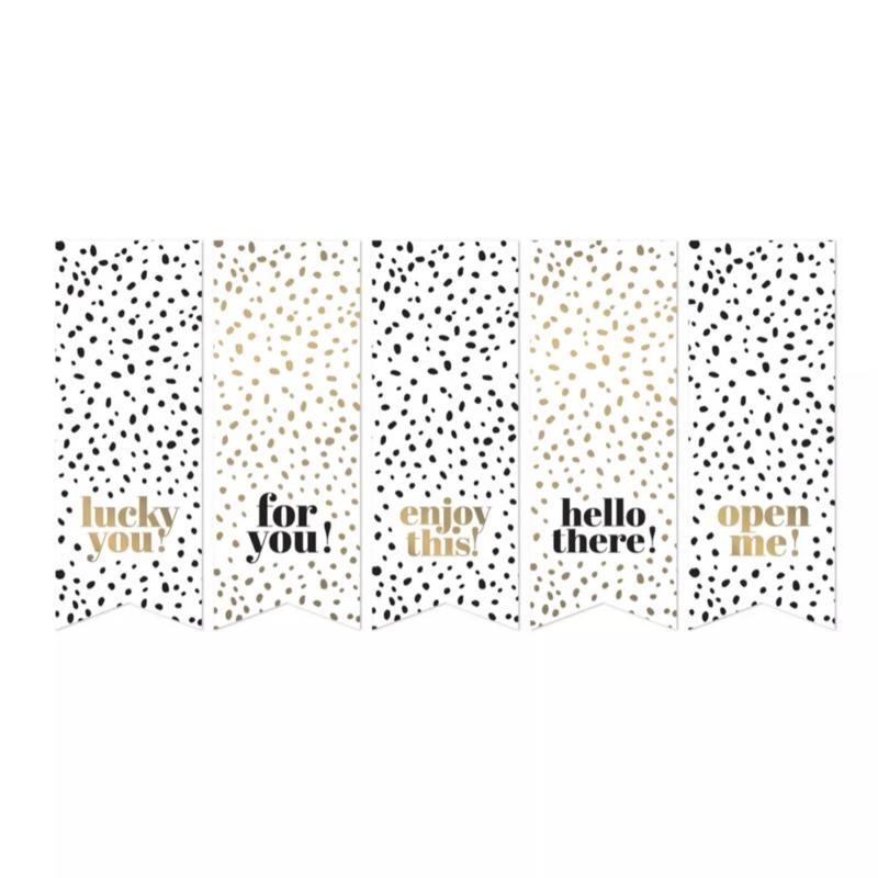 Black & Gold Vaantjes - 10 stuks