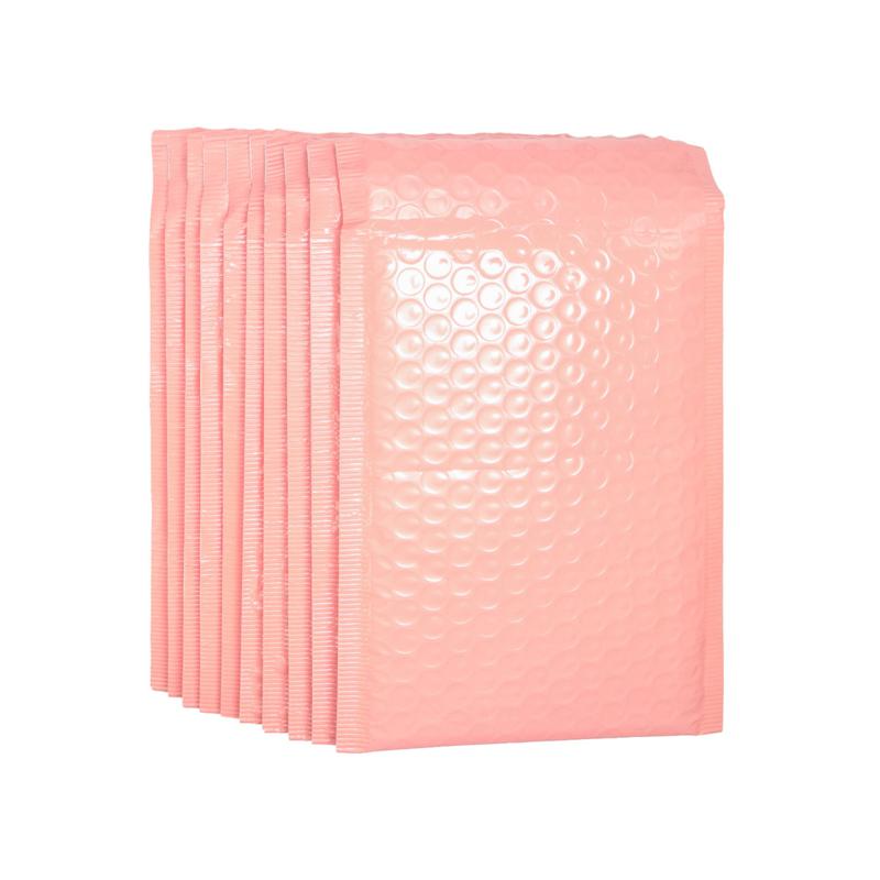 Bubbeltjes envelop - zalm roze - 25x15cm per stuk