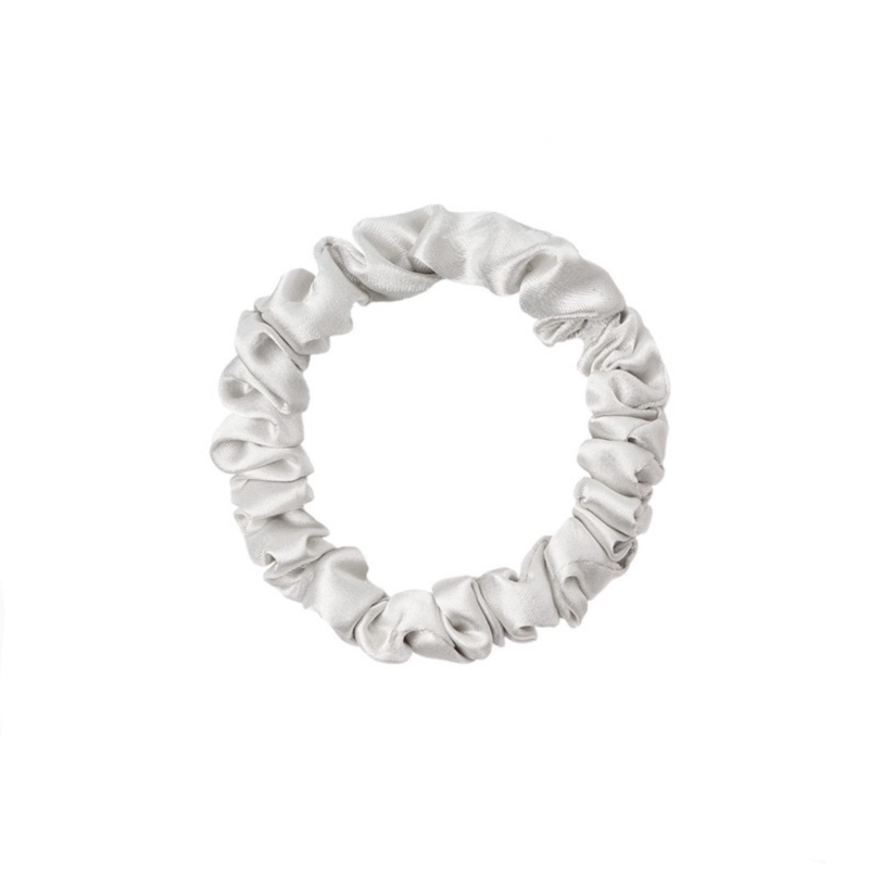 Scrunchie Lovely klein - zilver