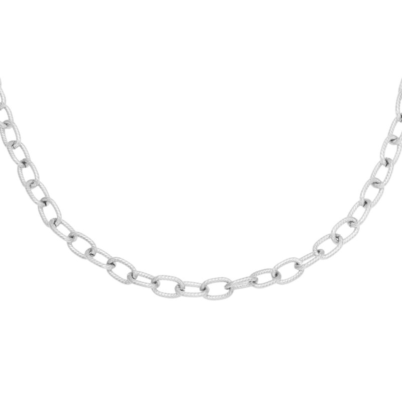 Chiseled Chain - zilver