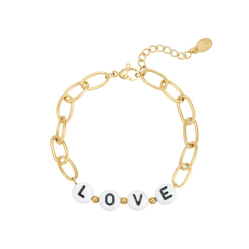 Beads Love - goud