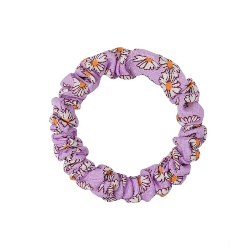 Scrunchie Lovely klein - flower paars