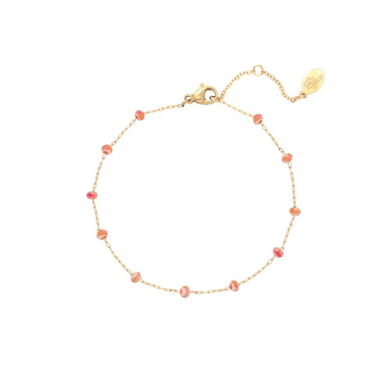 Up Town Beads - goud & oranje