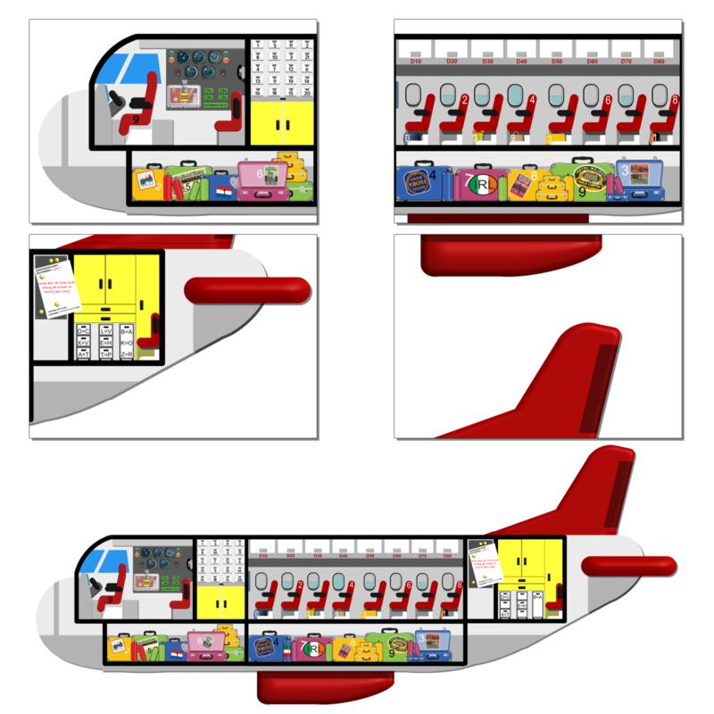 PRINT ZELF UIT! Ontsnap uit het vliegtuig