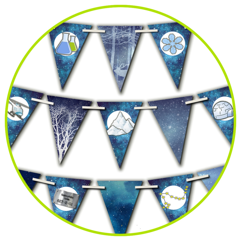 PRINT ZELF UIT!  Vlaggenlijn Expeditie Noordpool