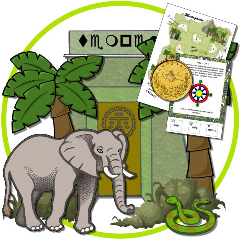 PRINT ZELF UIT!  Het geheim van de jungle