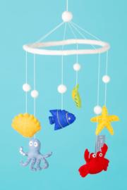 Baby mobiel van vilt, Zeedieren