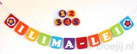 Naamslinger met leeftijden voor Ilima-Lei