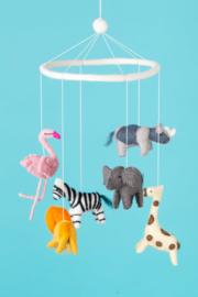 Baby mobiel van vilt, Jungle