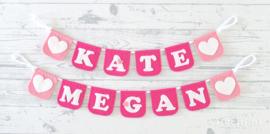 Naamslinger Kate en Megan