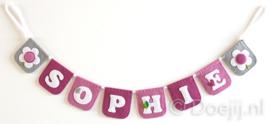 Naamslinger mini voor Sophie, Bloem