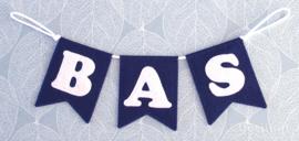 Naamslinger voor Bas