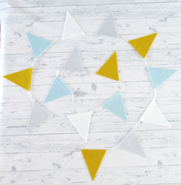Vlaggenlijn, Mosterd/Muisjes/Zachtblauw
