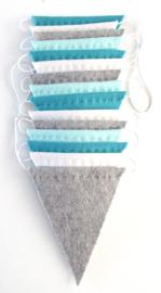 Vlaggenlijn, Zacht blauw/grijs
