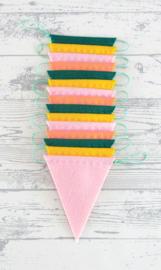 Vlaggenlijn, Geel/Roze/Groen