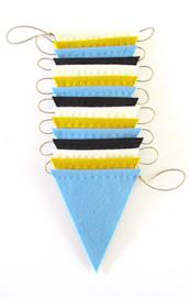 Vlaggenlijn, Mosterd/Zwart/Lichtblauw