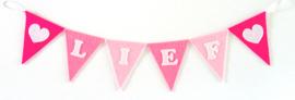 Vlaggenlijn, Roze, LIEF